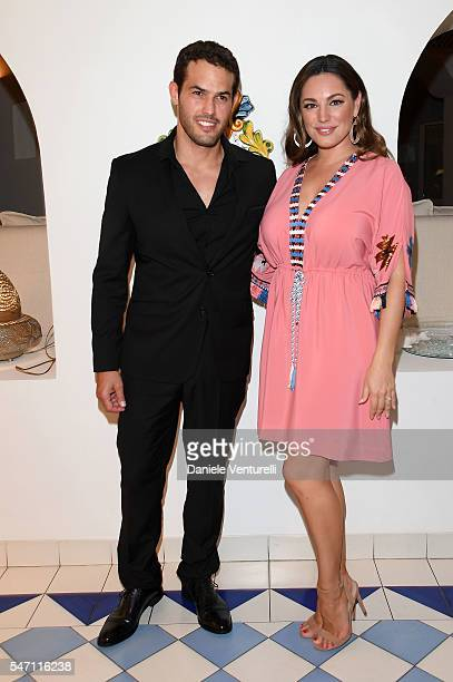 Jeremy Parisi and Kelly Brook attend the 2016 Ischia Global Film Music Fest on July 13 2016 in Ischia Italy
