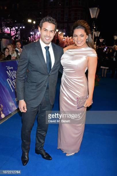 "Jeremy Parisi and Kelly Brook attend the European Premiere of ""Mary Poppins Returns"" at Royal Albert Hall on December 12, 2018 in London, England."