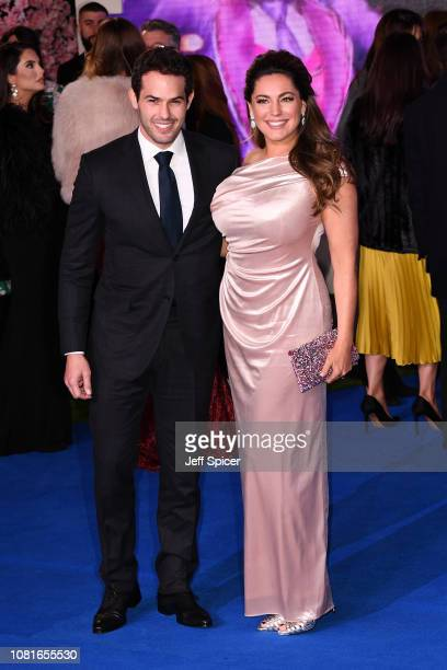 Jeremy Parisi and Kelly Brook attend the European Premiere of 'Mary Poppins Returns' at Royal Albert Hall on December 12 2018 in London England