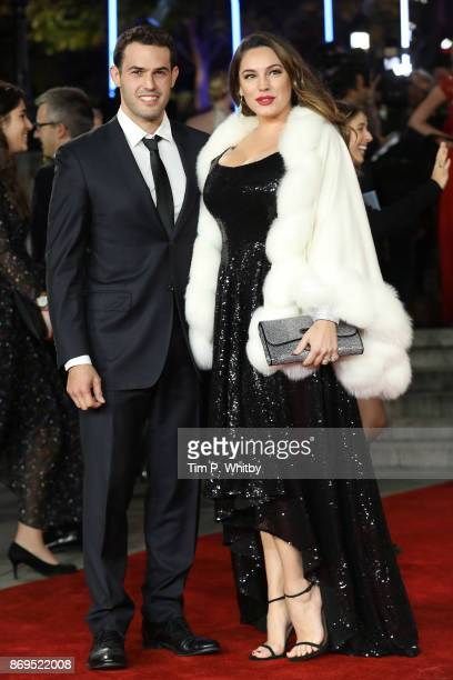Jeremy Parisi and Kelly Brook attend the 'Murder On The Orient Express' World Premiere held at Royal Albert Hall on November 2 2017 in London England