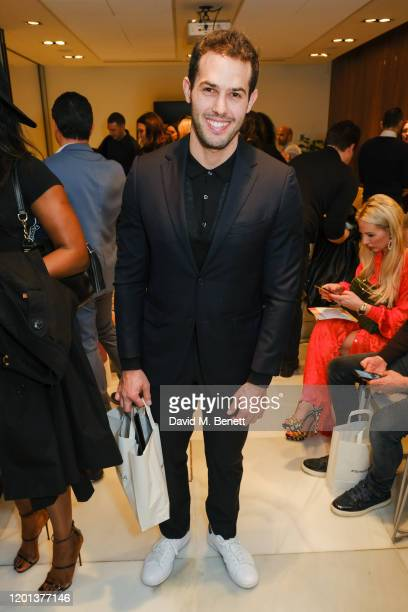 Jeremy Parisi attends the Kolchagov Barba show during London Fashion Week February 2020 at Melia White House Hotel on February 16 2020 in London...