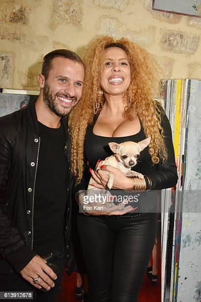 Jeremy Parra and Afida Turner attend ÇÊRencontre Et PartageÊÈ Entre Specialistes du 7 eme Art Hosted by AK2A AGENCY at Galerie Art Generation on...