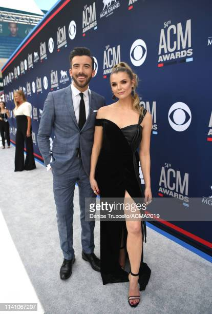 Jeremy Parsons and Andrea Boehlke attend the 54th Academy Of Country Music Awards at MGM Grand Hotel Casino on April 07 2019 in Las Vegas Nevada