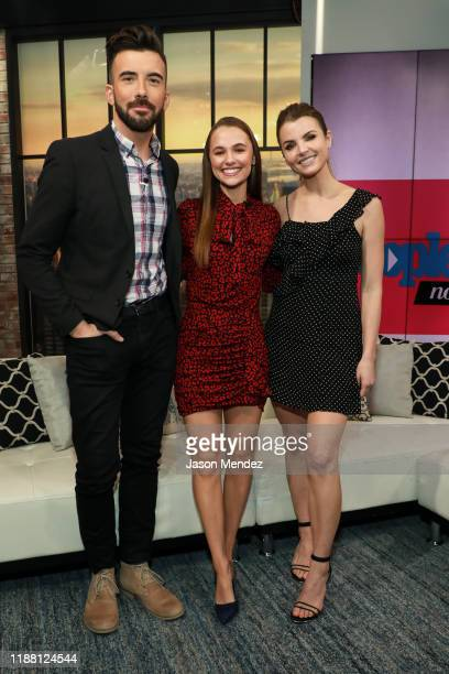 Jeremy Parsons Madison Iseman Andrea Boehlke Visits People Now on December 12 2019 in New York United States