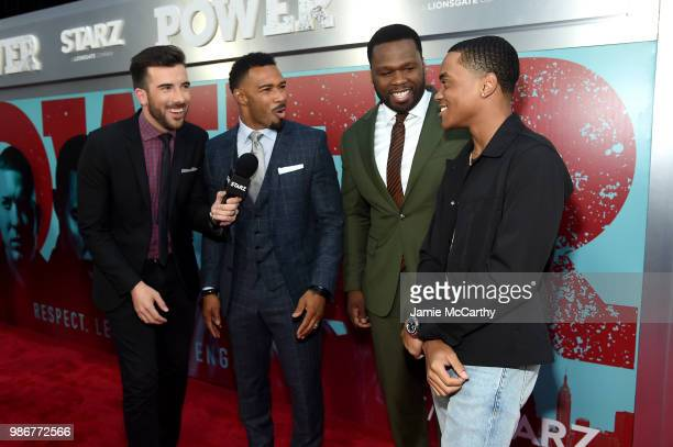 Jeremy Parsons Omari Hardwick Curtis '50 cent' Jackson and Michael Rainey Jr attend the Starz 'Power' The Fifth Season NYC Red Carpet Premiere Event...