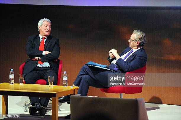 Jeremy Paxman and John Witherow during The Business of News John Witherow in Conversation with Jeremy Paxman as part of Advertising Week Europe...