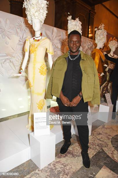 Jeremy Payne attends The Commonwealth Fashion Exchange exhibition at Australia House in partnership with Swarovski, The Woolmark Company and...
