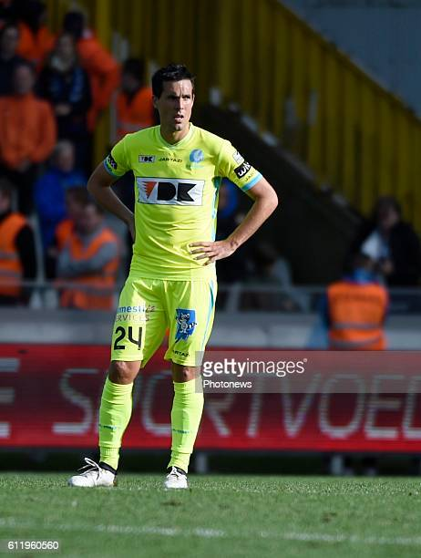 Jeremy Perbet forward of KAA Gent disappointed pictured during Jupiler Pro League match between Club Brugge KV and KAA Gent on OCTOBER2 2016 in...