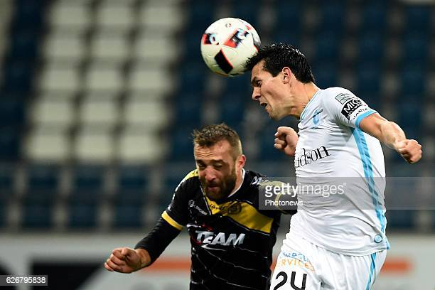 Jeremy Perbet forward of KAA Gent during the Croky Cup match between KAA Gent and KSC LOKEREN in the Ghelamco Arena stadium on NOVEMBER 30 2016 in...