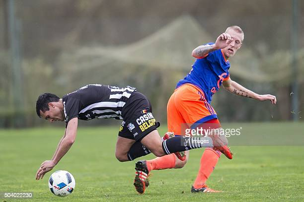 Jeremy Perbet of Sporting de Charleroi Lex Immers of Feyenoord during the International friendly match between Feyenoord and RCS Charleroi on January...