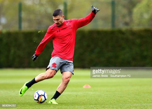Jeremy Pied during a Southampton FC Training session at Staplewood Complex on April 30 2018 in Southampton England