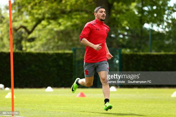 Jeremy Pied during a Southampton FC training session at Staplewood Complex on May 11 2018 in Southampton England