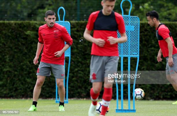 Jeremy Pied during a Southampton FC training session at the Staplewood Campus on May 11 2018 in Southampton England