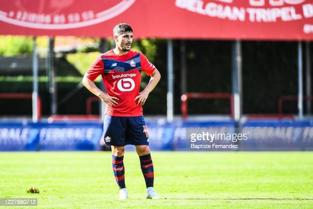 Jeremy PIED of Lille during the Friendly match between Lyon and Mouscron on July 18 2020 in Mouscron Belgium
