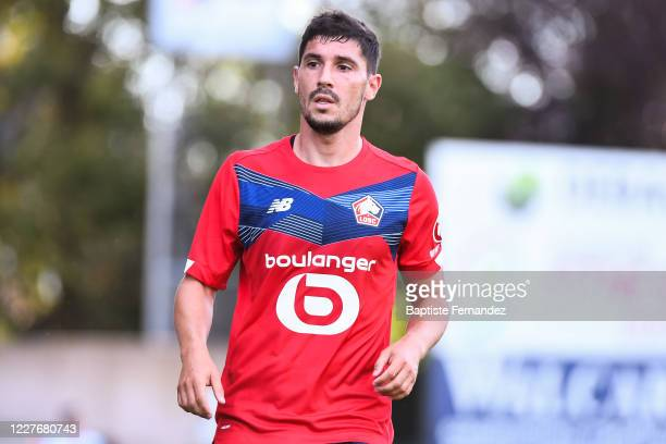 Jeremy PIED of Lille during the preseason soccer friendly match between Lille and Mouscron on July 18 2020 in Mouscron Belgium
