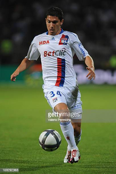 Jeremy Pied of Olympique Lyonnais in action during the Ligue 1 match between Olympique Lyonnais and AS Monaco FC at Gerland Stadium on August 7 2010...