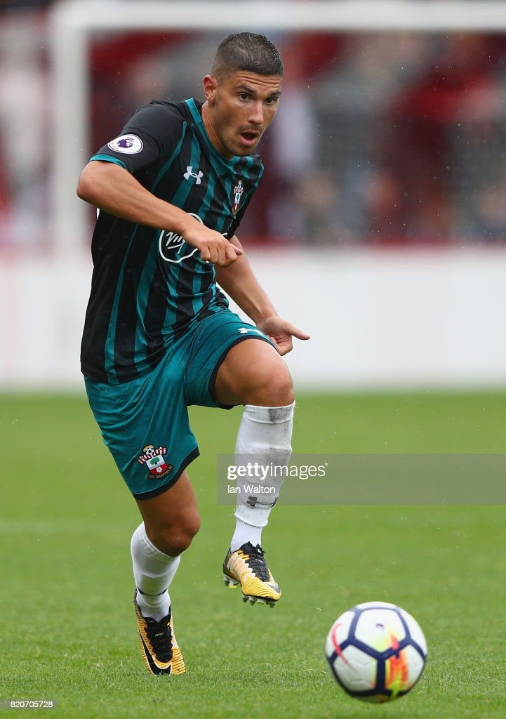 Jeremy Pied of Southampton during the Pre Season Friendly match between Brentford and Southampton at Griffin Park on July 22, 2017 in Brentford, England.