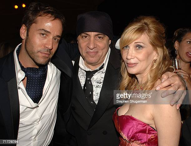 Jeremy Piven , actor Steve Van Zandt and his wife actress Maureen Van Zandt attend the HBO Post Emmy Party held at The Plaza at the Pacific Design...