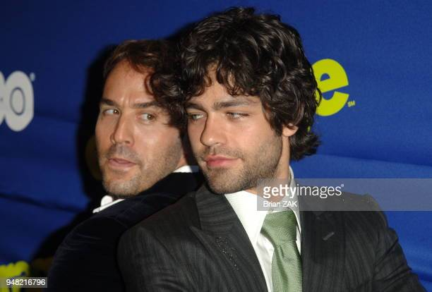 Jeremy Piven and Adrian Grenier arrive at the New York Premiere of the 3rd Season of Entourage held at the Skirball Center for the Performing Arts at...