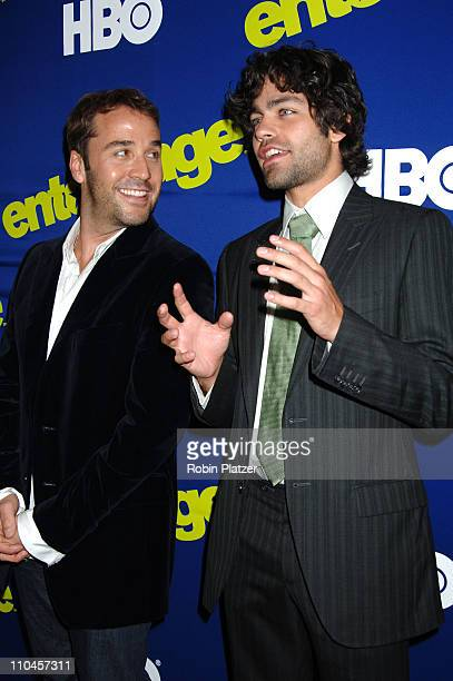 Jeremy Piven and Adrian Grenier during Entourage Season Three New York Premiere Arrivals at Skirball Center for the Performing Arts at NYU in New...