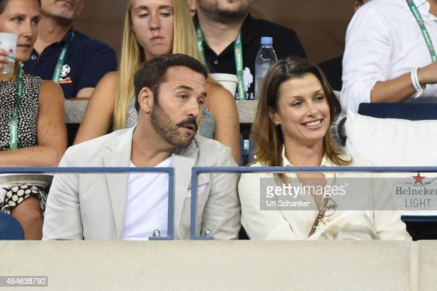 Jeremy Piven and Bridget Moynahan attend day 10 of the 2014 US Open at USTA Billie Jean King National Tennis Center on September 3, 2014 in New York...