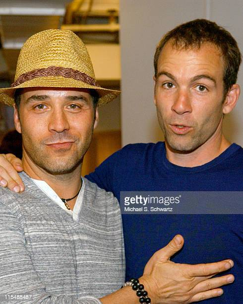 Jeremy Piven and Bryan Callen during CAAF - A Night of Comedy - April 14, 2007 at The Wilshire Theatre in Beverly Hills, California, United States.