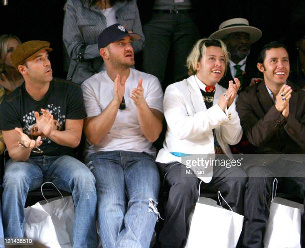 Jeremy Piven and Carlos and Efren Ramirez front row at Monarchy Collection Fall 2007