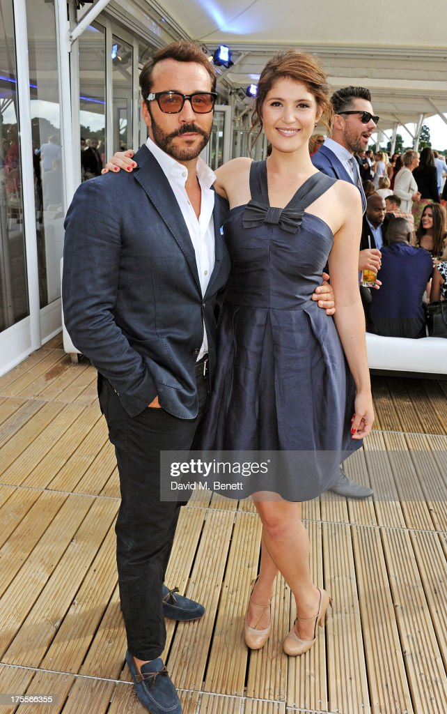 Jeremy Piven (L) and Gemma Arterton attend day 2 of the Audi Polo Challenge at Coworth Park Polo Club on August 4, 2013 in Ascot, England.