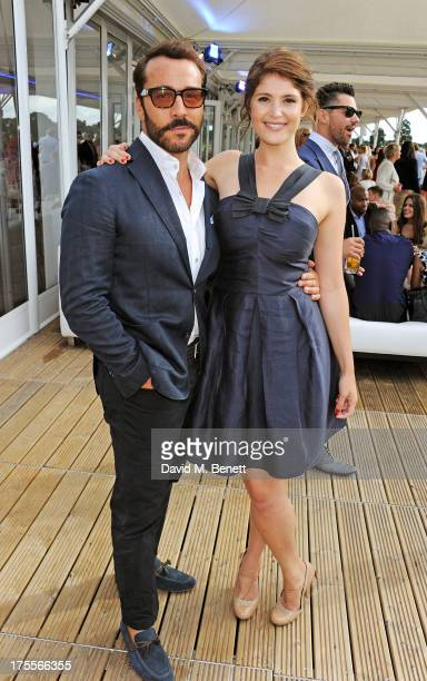 Jeremy Piven and Gemma Arterton attend day 2 of the Audi Polo Challenge at Coworth Park Polo Club on August 4, 2013 in Ascot, England.