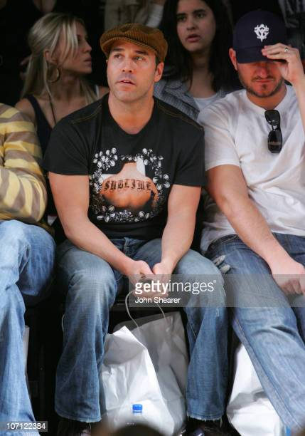 Jeremy Piven and guest front row at Monarchy Collection Fall 2007