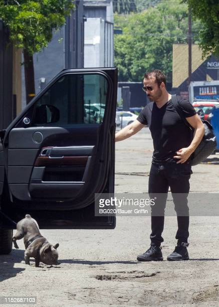 Jeremy Piven and his dog Stella are seen on June 28 2019 in Los Angeles California