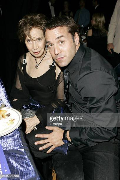 Jeremy Piven and his mother during The 57th Annual Emmy Awards Governors Ball at Shrine Auditorium in Los Angeles California United States