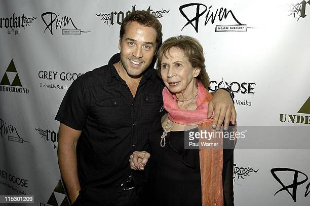 Jeremy Piven and his mother Joyce Piven attend the 2009 Piven Theatre Workshop Benefit at Rockit Bar & Grill on June 20, 2009 in Chicago, Illinois.