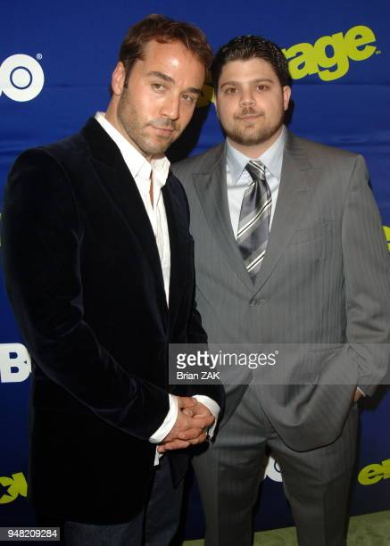 Jeremy Piven and Jerry Ferrara arrive at the New York Premiere of the 3rd Season of Entourage held at the Skirball Center for the Performing Arts at...