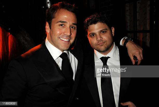 Jeremy Piven and Jerry Ferrara attends the HBO after party for the 14th Annual Screen Actor's Guild Awards at the Shrine Auditorium on January 27...