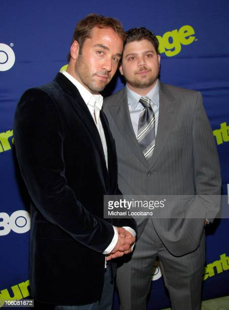 Jeremy Piven and Jerry Ferrara during Entourage Season Three New York Premiere Arrivals at Skirball Center for the Performing Arts at NYU in New York...