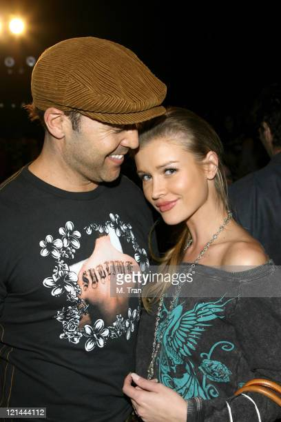 Jeremy Piven and Joanna Krupa backstage at Monarchy Collection Fall 2007
