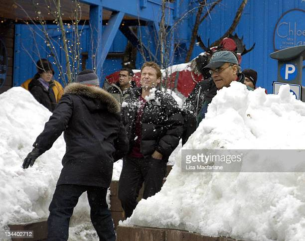 Jeremy Piven and Kevin Connolly during 2005 Sundance Film Festival Taping of Entourage January 27 2005 at Main Street in Park City Utah United States