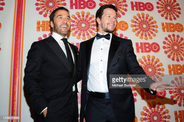Jeremy Piven and Mark Wahlberg arrive at HBO's Annual Emmy Awards Post Award Reception Arrivals on September 18 2011 in Los Angeles California