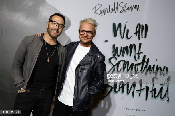 Jeremy Piven and Randall Slavin attend Randall Slavin's We Want Something Beautiful book launch event hosted by Nathan Fillion on November 09 2019 in...