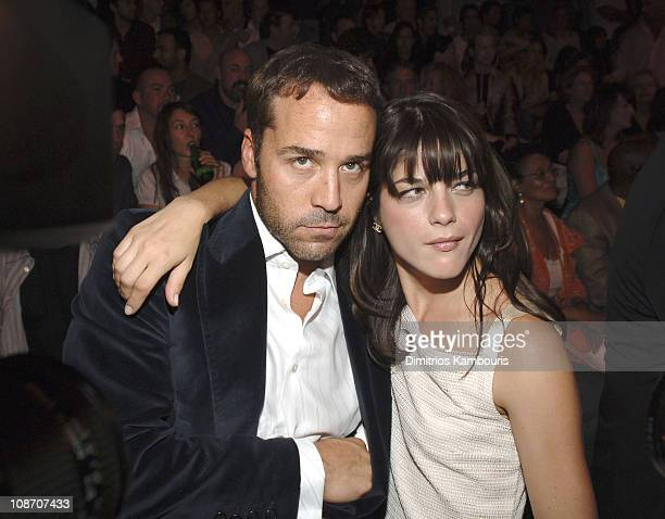Jeremy Piven and Selma Blair during Olympus Fashion Week Spring 2006 Marc Jacobs Front Row and Backstage at NY State Armory in New York City New York...