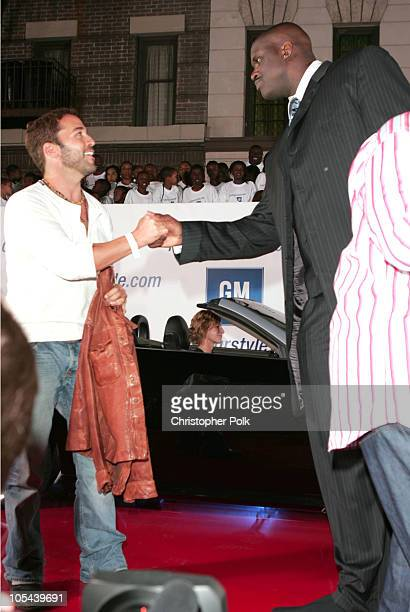 Jeremy Piven and Shaquille O'Neal during 2nd Annual Rollin' 24 GM All Car Showdown at Paramount Studios in Los Angeles California United States