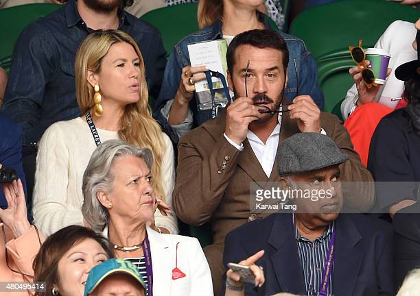 Jeremy Piven attends day 13 of the Wimbledon Tennis Championships at Wimbledon on July 12, 2015 in London, England.