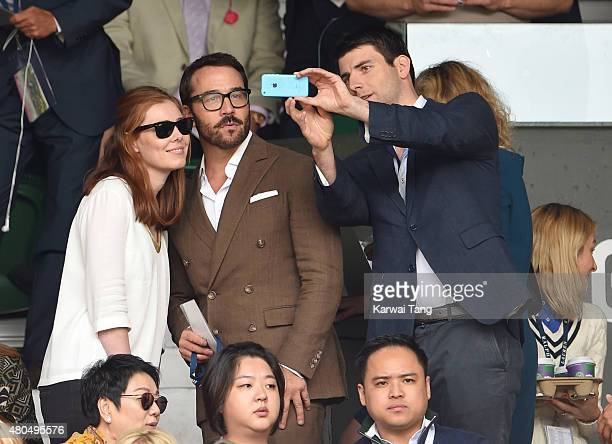 Jeremy Piven attends day 13 of the Wimbledon Tennis Championships at Wimbledon on July 12 2015 in London England