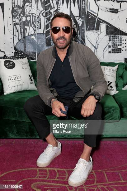 Jeremy Piven attends the EON Mist Sanitizer Pre-Oscars Lounge presented by GBK Brand Bar at La Peer Hotel on April 23, 2021 in Los Angeles,...