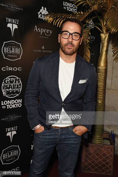Jeremy Piven attends the official launch party for the Gumball 3000 Rally at Proud Embankment on August 4 2018 in London England The 2018 Gumball...