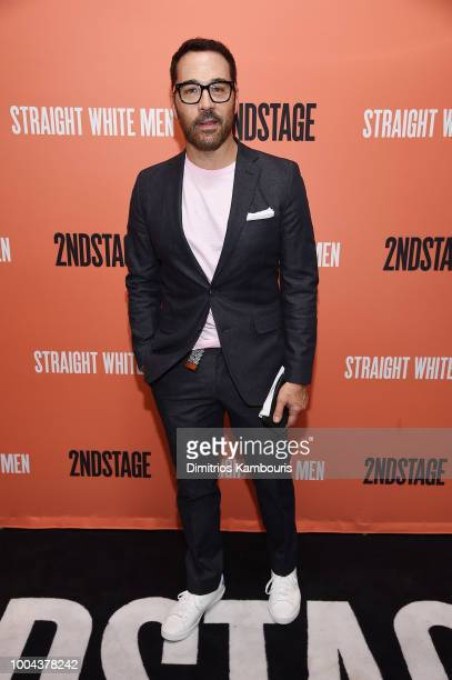 "Jeremy Piven attends the opening night of ""Straight White Men"" at Hayes Theater on July 23, 2018 in New York City."
