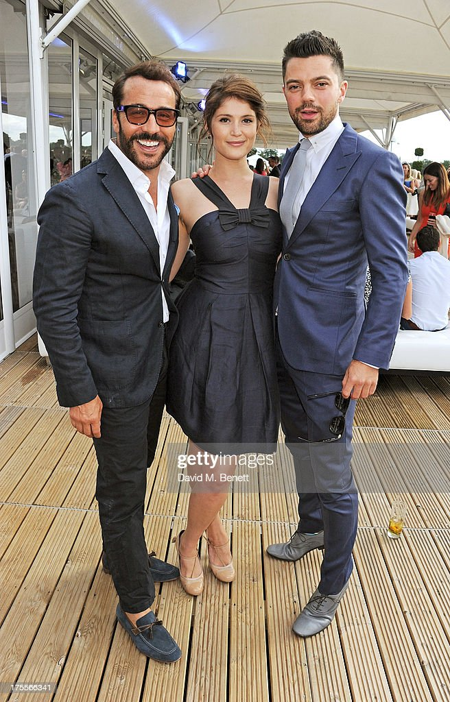 Jeremy Piven, Gemma Arterton and Dominic Cooper attend day 2 of the Audi Polo Challenge at Coworth Park Polo Club on August 4, 2013 in Ascot, England.