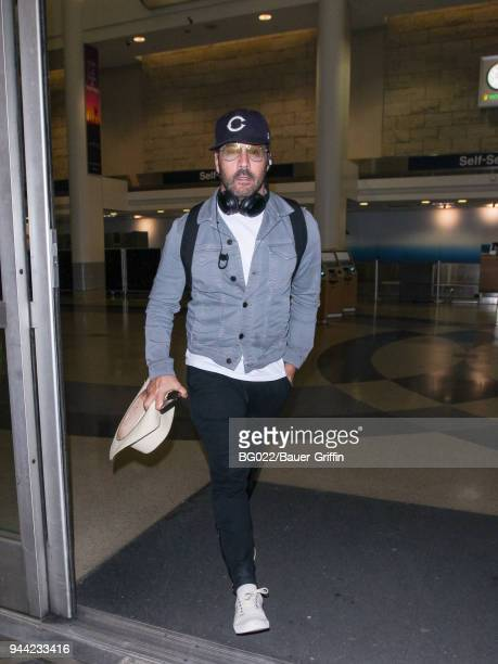 Jeremy Piven is seen at 'Los Angeles International Airport' on April 09 2018 in Los Angeles California