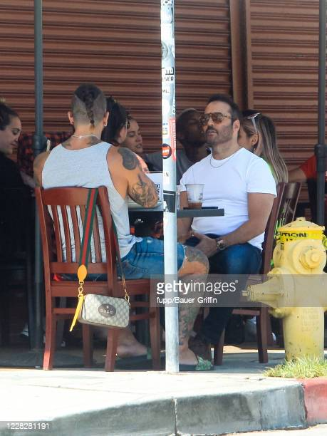 Jeremy Piven is seen on August 30 2020 in Los Angeles California